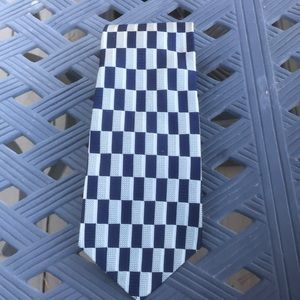 The Custom Shop Mens tie black/gray square pattern